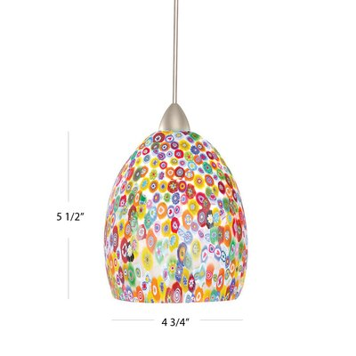 Fiore Monopoint 1-Light Mini Pendant Finish: Chrome