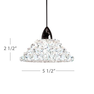 Giselle Monopoint 1-Light Mini Pendant Finish: Dark Bronze, Shade Color: White Diamond (Clear)