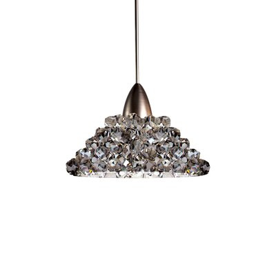 Giselle Quick Connect Mini Pendant Finish: Brushed Nickel, Shade Color: Black Ice