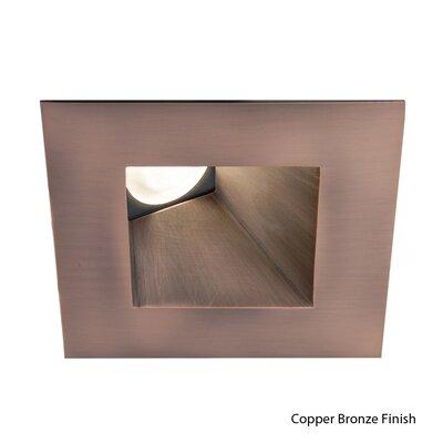 Tesla Wallwasher Square 2700K 3-Light 2.88 LED Recessed Trim Finish: Copper Bronze