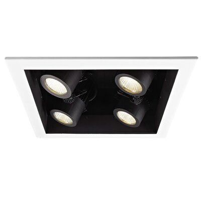 4-Light 4000K LED Recessed Multi-Spotlight Lens Degree: Spot
