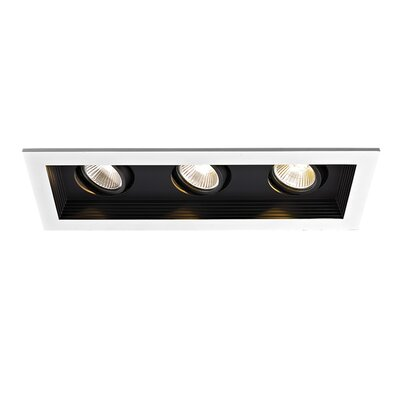 3-Light Mini 90 CRI LED Recessed Multi-Spotlight Finish: Black