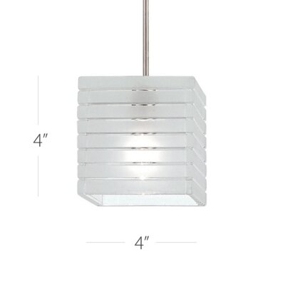 Tulum 1-Light Mini Pendant Finish: Brushed Nickel