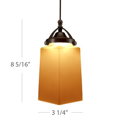 Huntington Monopoint Pendant Shade Color: Amber, Finish: Dark Bronze