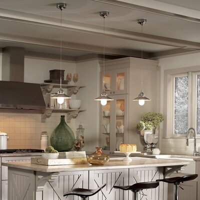 Randles Monopoint 1-Light Mini Pendant Finish: Brushed Nickel, Shade Color: Brushed Nickel