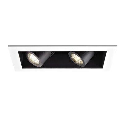 2-Light Precision Module LED Recessed Multi-Spotlight Lens Degree: Flood