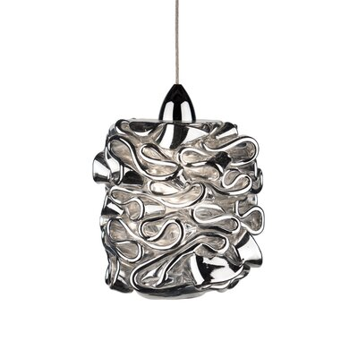 Candy Quick Connect Pendant Finish: Brushed Nickel, Shade Color: Silver