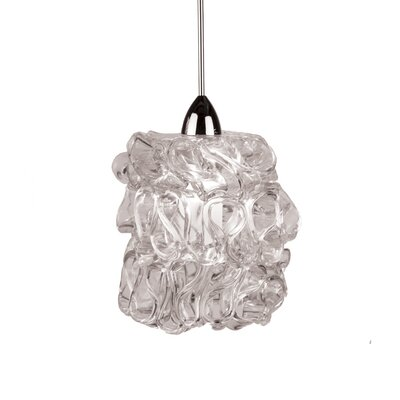 Candy Quick Connect Pendant Finish: Chrome, Shade Color: Clear