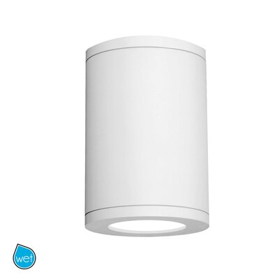 Tube Architectural 1-Light Flush mount Finish: White, Size: 11.81 H x 8 W, Lens Degree: Flood