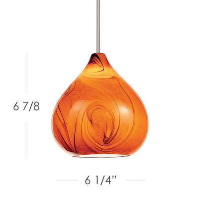 Truffle Monopoint 1-Light Mini Pendant Finish: Chrome