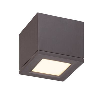 Myrtle 1-Light LED Flush Mount Finish: Bronze, Size: Small