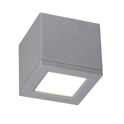 Myrtle Flush Mount Size: Small, Finish: Graphite