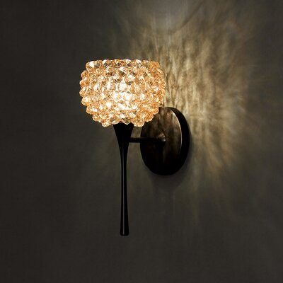 Gia 4.5 Glass Sphere Wall Sconce Shade Shade Color: Champagne Diamond