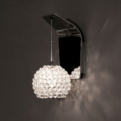 Gia 4.5 Glass Sphere Wall Sconce Shade Shade Color: White Diamond