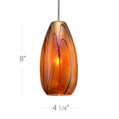 Willow 1-Light Quick Connect Mini Pendant Finish: Brushed Nickel