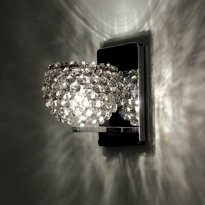 Gia 4.5 Glass Sphere Wall Sconce Shade Shade Color: Black Ice