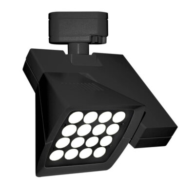 Logos 16-Light LED 4000K Track Head Finish: Black, Lens Degree: Flood