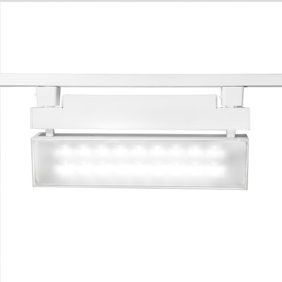 43W LED Wall Washer Track Head Finish: White, Track Collection: Halo Series