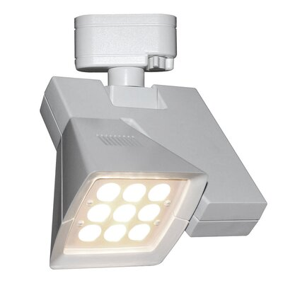Logos 9-Light 23W LED 4000K Track Head Lens Degree: Flood, Finish: White