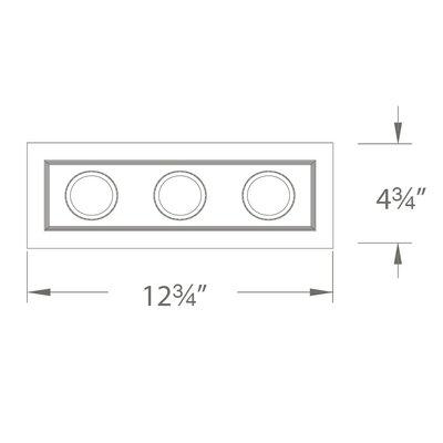 1-Light Mini 12.75 LED Recessed Multi-Spotlight Finish: Black