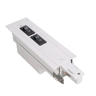277V W Recessed Track Flanged Current Limiter Finish: White