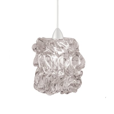 Candy 1-Light LED Mini Pendant Finish: Brushed Nickel, Shade Color: Clear