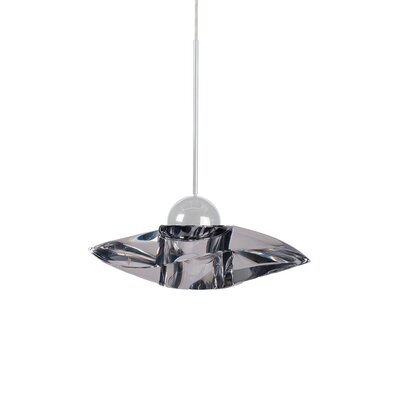 Sorriso 1-Light LED Mini Pendant Finish: Brushed Nickel, Shade Color: Gold
