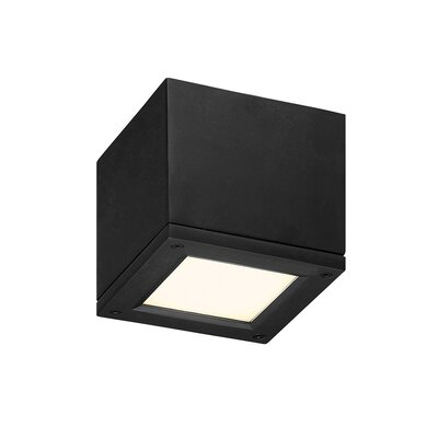 Myrtle 1-Light LED Flush Mount Finish: Black, Size: Small