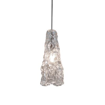 Ice Quick Connect 1-Light Mini Pendant Finish: Brushed Nickel