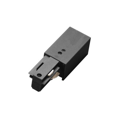 120V Right W Track Live End Connector Finish: Platinum