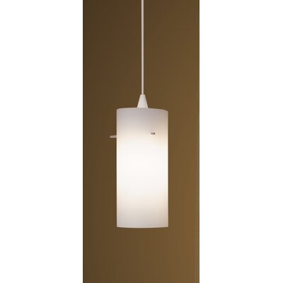 Dax Track 1-Light Mini Pendant Finish: White, Shade Color: White, Track Collection: Lightolier Series