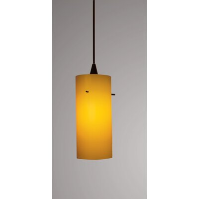 Dax Track 1-Light Mini Pendant Finish: Black, Shade Color: White, Track Collection: Lightolier Series