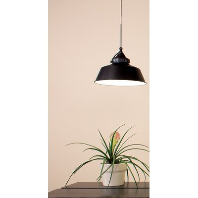 Wyandotte 1-Light Inverted Pendant Finish: Dark Bronze, Shade Color: Antique Bronze