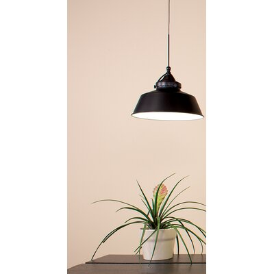 Wyandotte 1-Light Inverted Pendant Shade Color: Antique Bronze, Finish: Dark Bronze