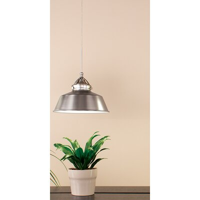 Wyandotte 1-Light Inverted Pendant Finish: Brushed Nickel, Shade Color: Brushed Nickel