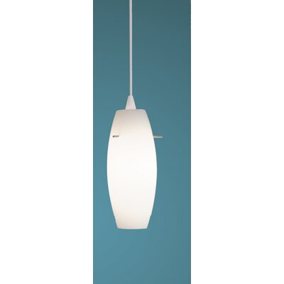 Bongo Monopoint 1-Light Mini Pendant Finish: White, Shade Color: White