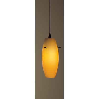 Bongo Monopoint 1-Light Mini Pendant Finish: Black, Shade Color: White