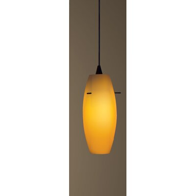 Bongo H-Track 1-Light Mini Pendant Finish: Black, Shade Color: White