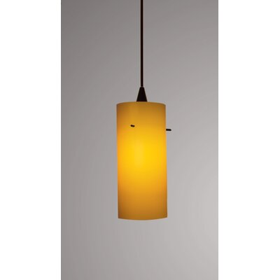 Dax Monopoint 1-Light Mini Pendant Finish: Black, Shade Color: White