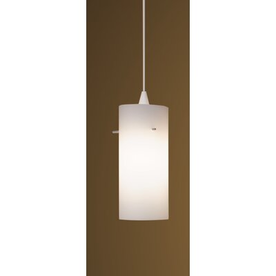Dax Monopoint Drum Pendant Finish: White, Shade Color: White