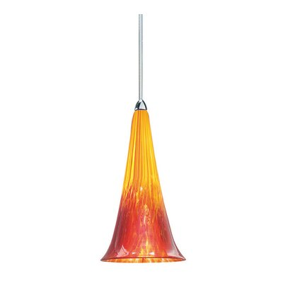 Passion Monopoint 1-Light Mini Pendant Finish: Chrome, Shade Color: Yellow/Red