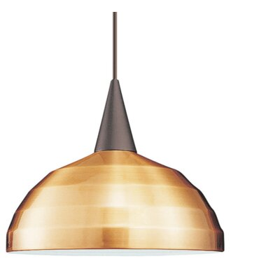 Felis Flexrail 1-Light Inverted Pendant Finish: Dark Bronze, Shade Color: Brushed Nickel