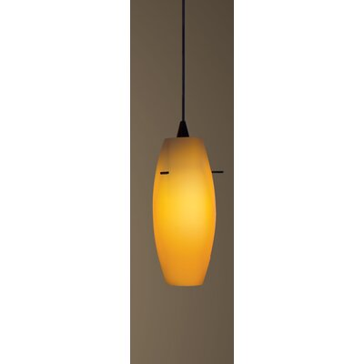 Bongo Flexrail 1-Light Mini Pendant Shade Color: White, Finish: Dark Bronze