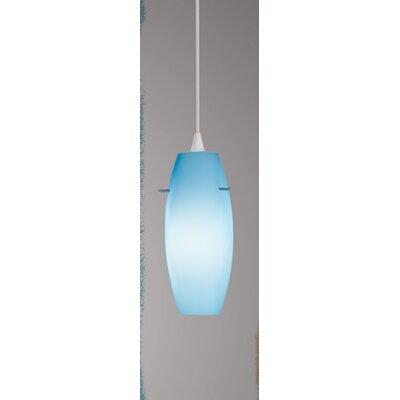 Bongo Flexrail 1-Light Mini Pendant Finish: Platinum, Shade Color: Blue