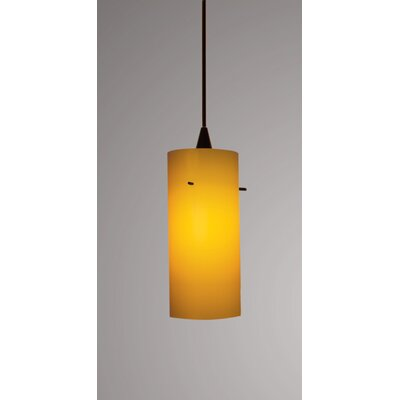 Dax Flexrail 1-Light Mini Pendant Finish: Dark Bronze, Shade Color: White