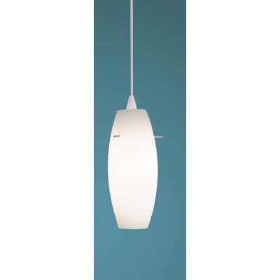 Bongo J-Track 1-Light Mini Pendant Finish: White, Shade Color: White