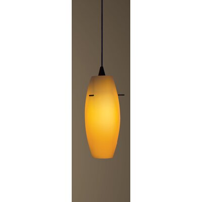 Bongo J-Track 1-Light Mini Pendant Finish: Brushed Nickel, Shade Color: White