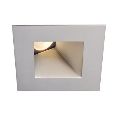 Downlight Wall Washer Square 2.88 LED Recessed Trim Finish: Brushed Nickel, Bulb: 4000K