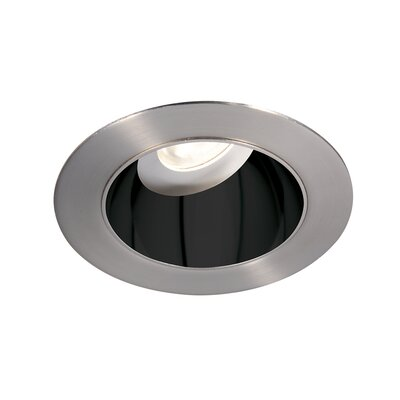 Tesla Pro High Output 3.5 Recessed Trim Finish: Specular Black/Brushed Nickel