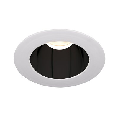 Tesla 3.5 LED Recessed Trim Finish: Specular Black/Brushed Nickel